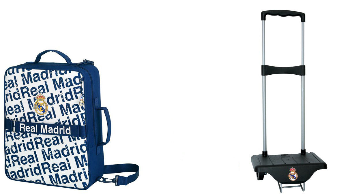 exclusiv real madrid reisetasche sporttasche trolley. Black Bedroom Furniture Sets. Home Design Ideas